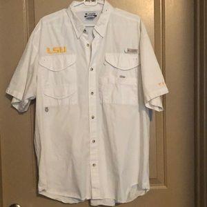 Men's Columbia LSU fishing shirt